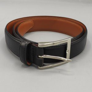 BROOKS BROTHERS BELT BLACK LEATHER MADE in ITALY